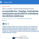 La nouvelle éco : Tesalys, l'entreprise toulousaine qui facilite le traitement des déchets médicaux